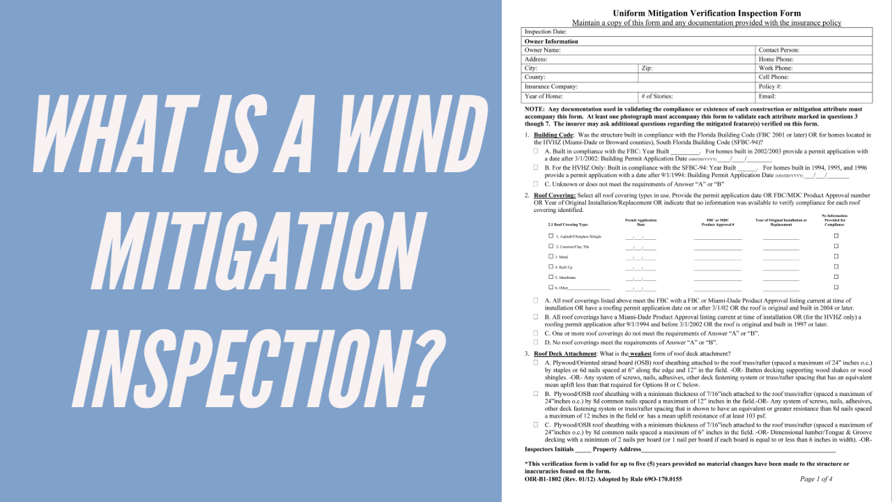 Original what is a wind mitigation inspection