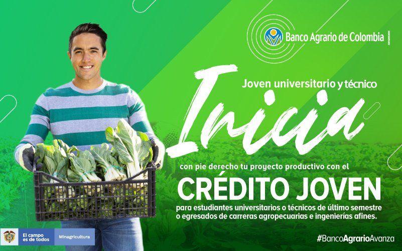 Banco Agrario lanza línea de Crédito Joven para proyectos agrícolas y agroindustriales