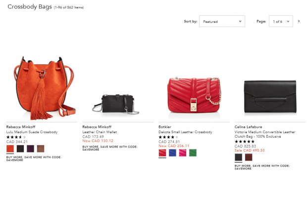 Bloomingdale's Crossbody Bags Category Page