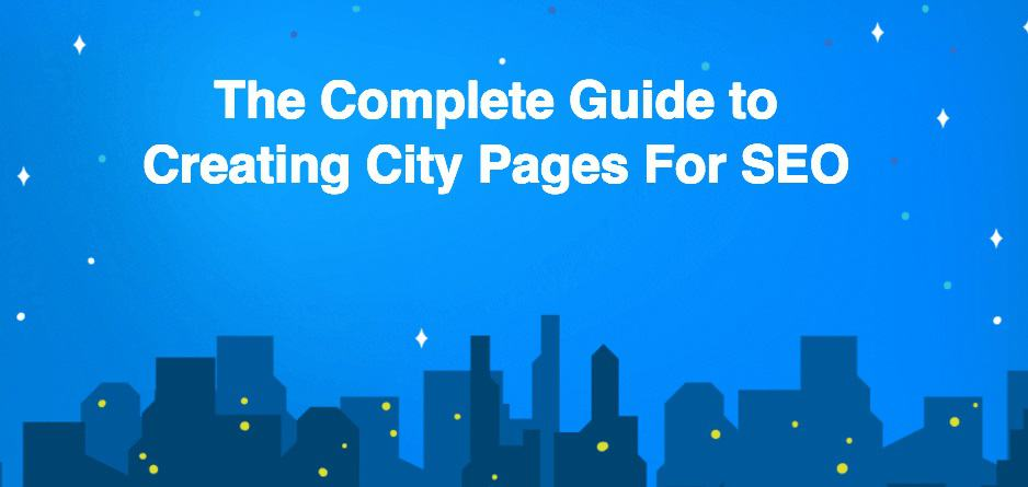 cover for ebook about creating city pages at scale