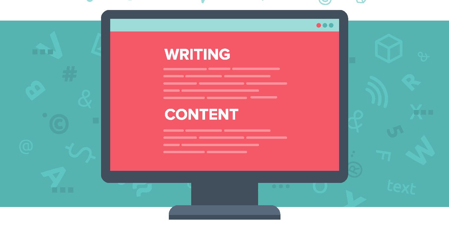 Computer showing content being rewritten