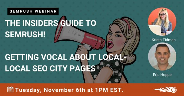 Cover image for post about webinar Crowd Content hosted with SEMrush, featuring the speakers