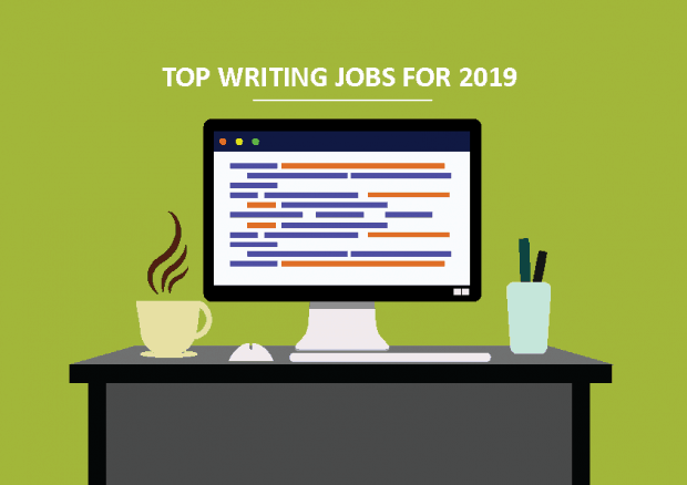 Computer showing a list of freelance writing jobs