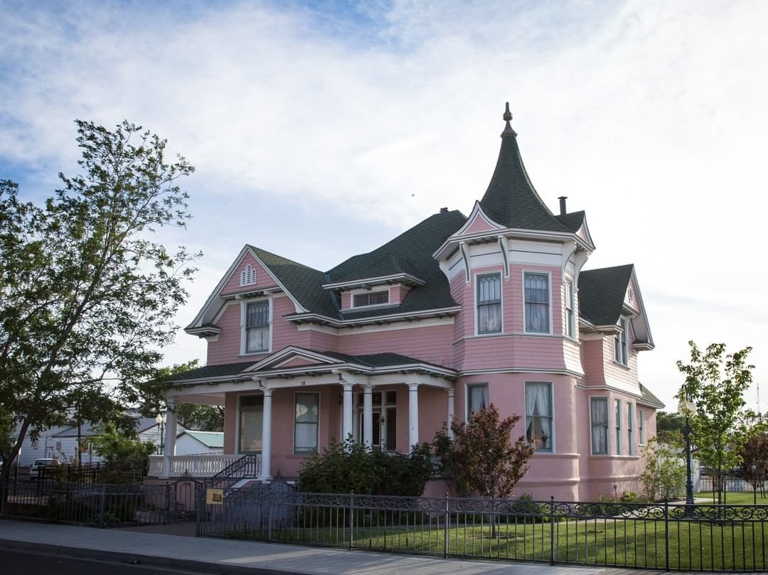 Have you visited the Robert L. Douglass House recently? If not, it may be time to stop by this pink icon of Fallon history and see this unique architecture for yourself. #VisitFallon