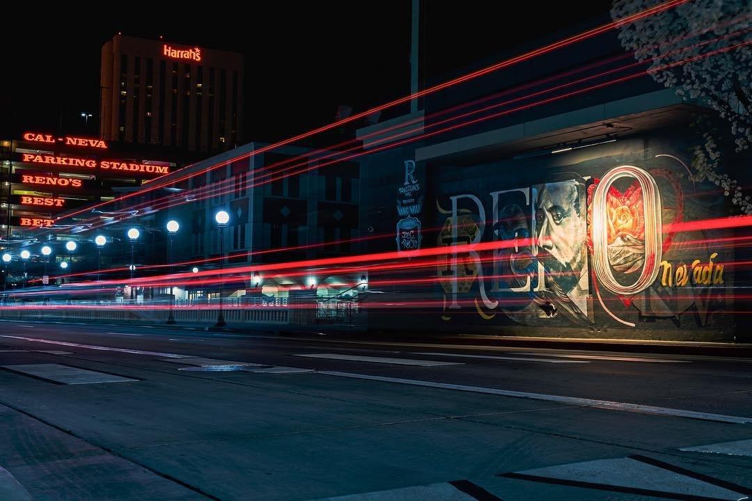 Center Street Trails  3 photos stacked in #photoshop  Sony A7RIII | 24-70gm | f/10 | ISO 100 | 6 sec  cityofreno renrenodowntown clubcalneva harrahsreno travelnevada  #reno #cityofreno #traffictrails #downtown #longexposure #streetphotogaphy #renoisrad #city #biggestlittlecity #casino #a7riii #bealpha #sonyalpha #urbanandstreet  #street_ninjas #depthshooters
