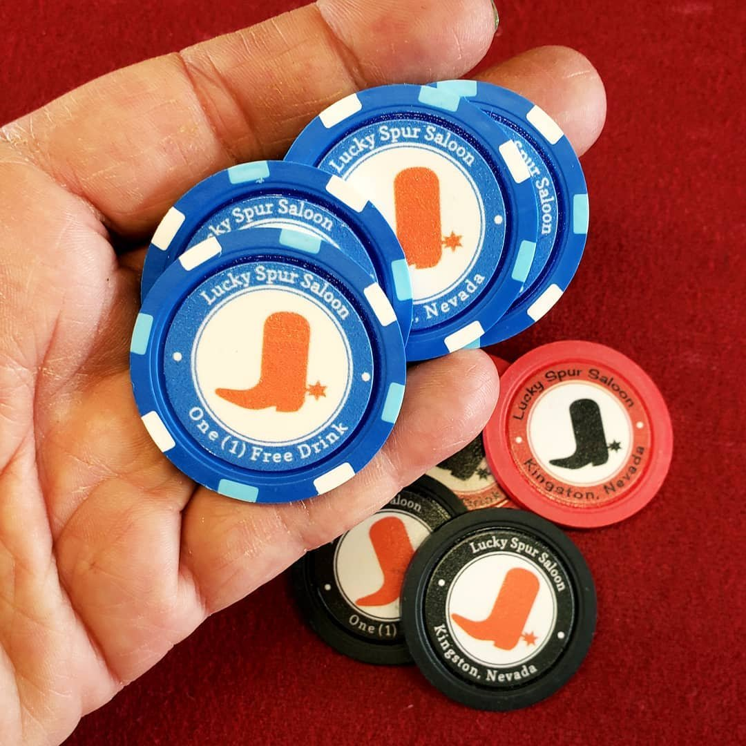 Drink tokes make a great gift at $5 each. You should be here.  #poker #pokerchips #drinktoke #wander #wanderlust  #wonder #travel #bigsmokyvalley #DFMI #nevada #travelnevada  #roadtrip #boot #potd #red #bar #saloon  #collection #fun #getoutside #rural #nevada #oneofakind #ooak #youshouldbehere