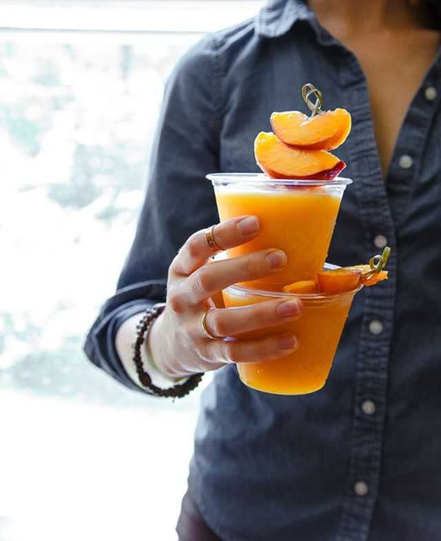 What's today? It's #winesday! And how do we celebrate? With peach wine slushies, of course. Check out the recipe by Dessert for Two here: http://ow.ly/i8SM308Muxe