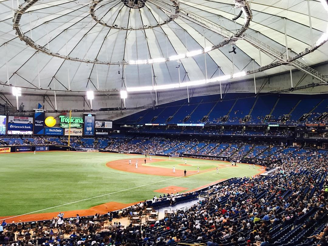Tropicana Field! Rays vs. Mariners #liveamplified #allegiant #G4piefam #suitelife