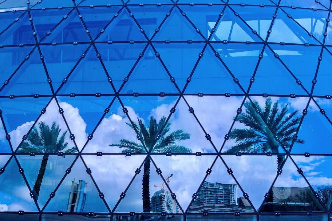 Capturing reflections. The Dali Museum. #dali #dalimuseum #stpetersburgfl #stpete