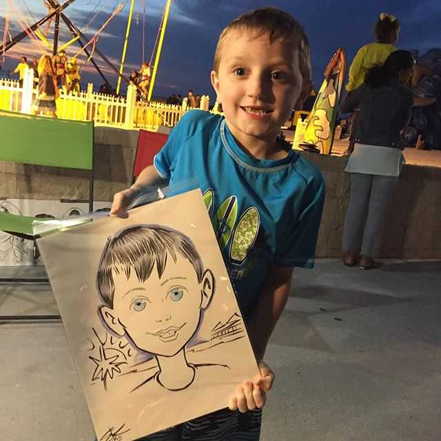 #ClearwaterBeach #Pier60 #SunsetsAtPier60 #portrait #caricature #portraicature