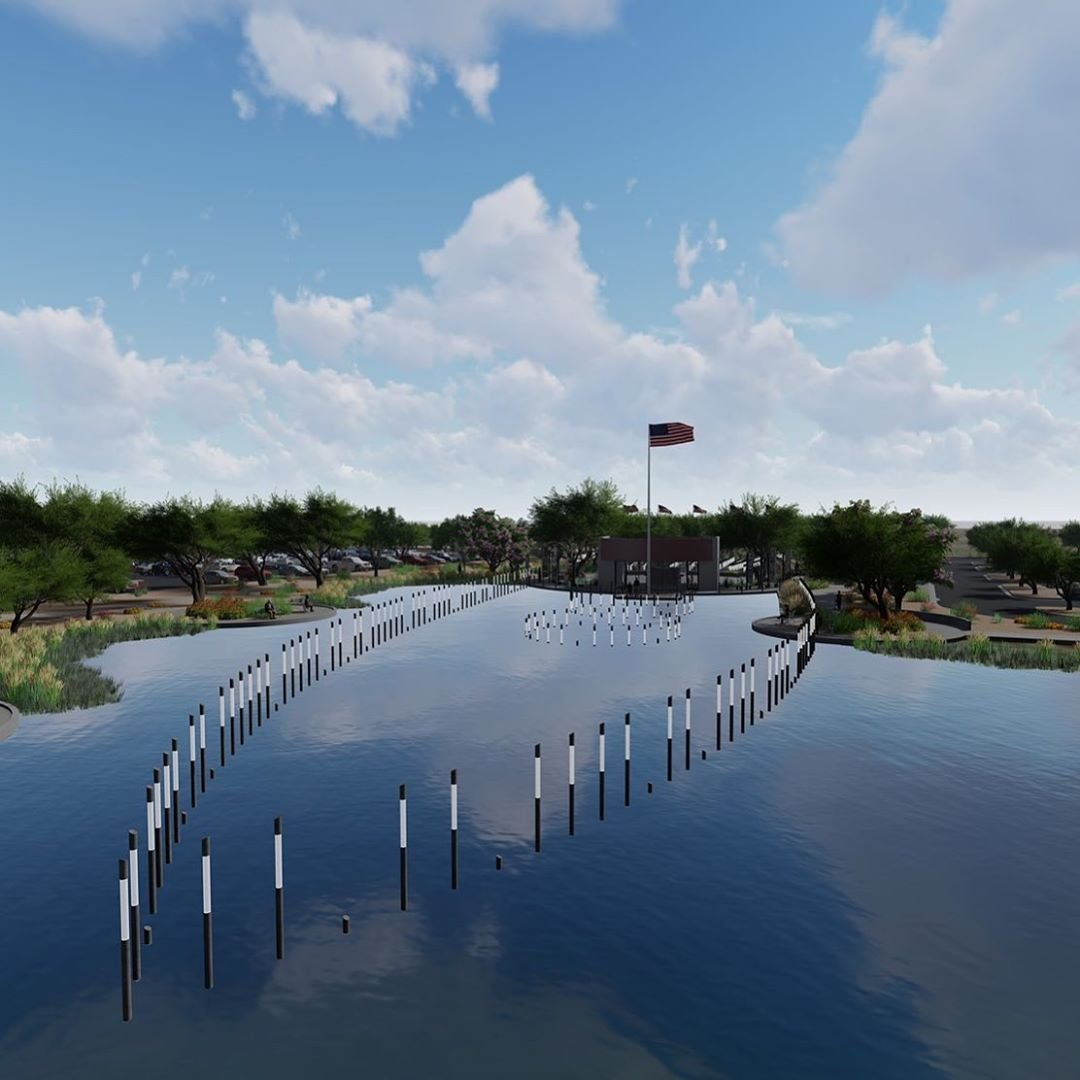 Photo by user discoversaltriver, caption reads The Salt River Pima-Maricopa Indian Community invites you to the grand opening of the USS Arizona Memorial Gardens at Salt River on Saturday, February 22 at 10am. Learn more information at USSArizonaSaltRiver.com •#USSAZatSaltRiver #SRPMIC #DiscoverSaltRiver #TalkingStickAZ #USSArizona #Memorial
