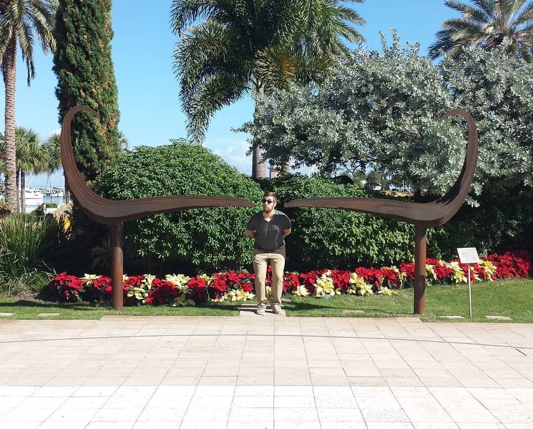 Workin' on that Dali 'stache!  #dali #stpete #museum #sculpture #Florida