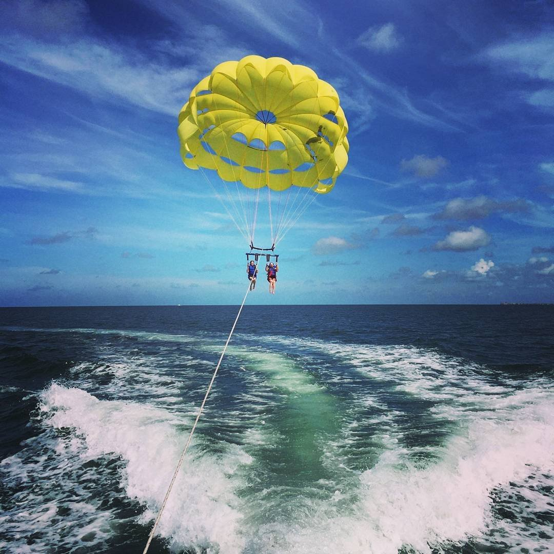Parasailing at Tradewinds Resort in St Pete Beach!