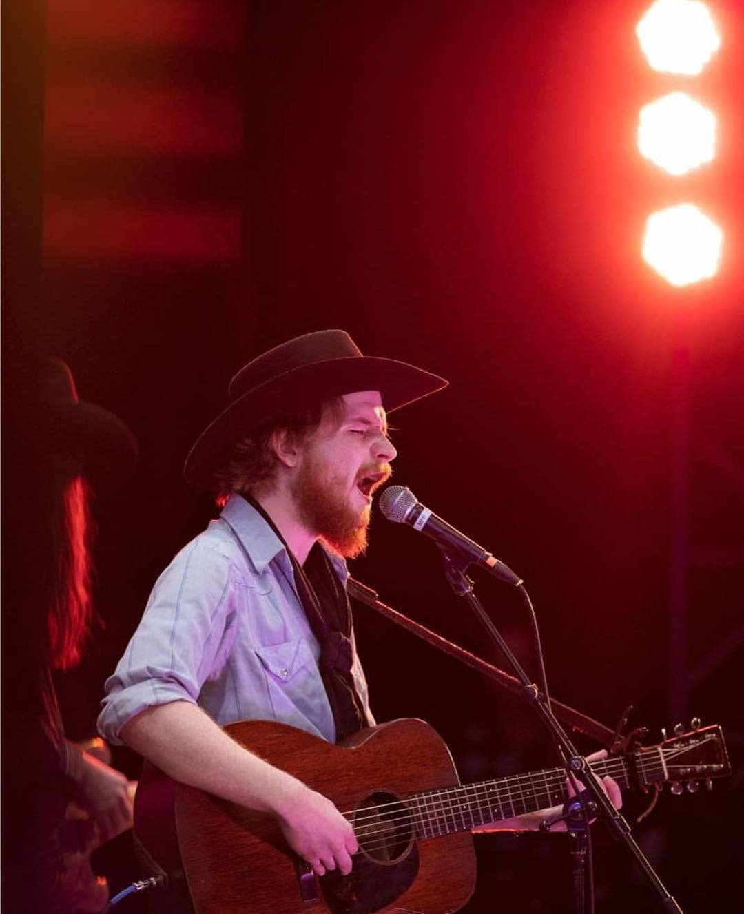Saskatchewan's colterwall on stage at the 35th annual cowboypoetrygathering in Elko, Nevada. We sent lizbeddall down to travelnevada to investigate the gathering, stay tuned for her story on CanGeoTravel.ca!