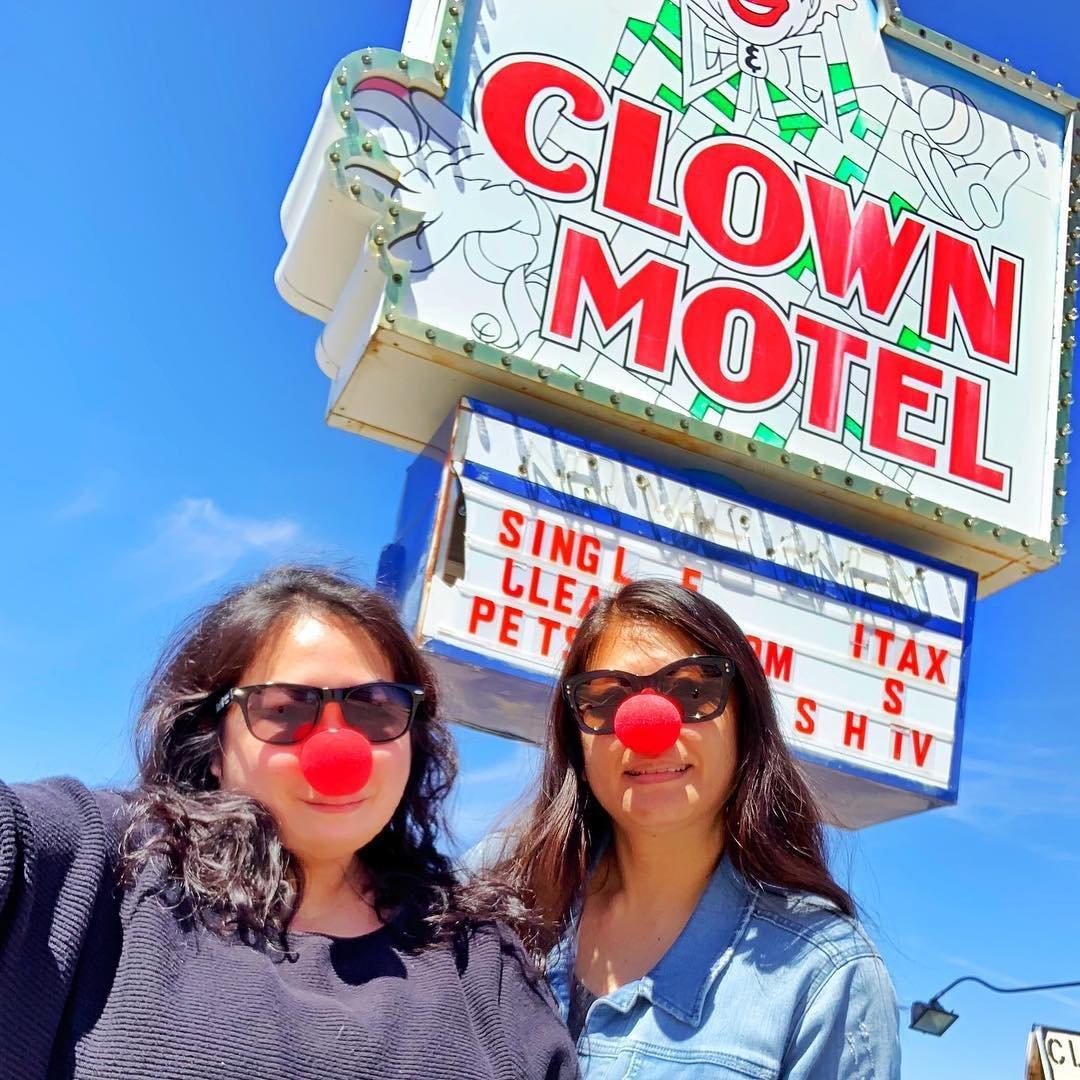 """ Why don't sharks eat clowns? They taste funny."" Always stopping at the Clown Motel when I go through Tonopah! #clownmotel #clowns #tonopah #roadtrip . . . . . . . . . #acolorstory #traveldreamseekers #shetravels  #traveltagged #lifewelltraveled #femmetravel #girlsborntotravel #travelgirlsgo #thetravelwomen #globelletravels #pinktrotters #girlslovetravel #passionpassport #darlingescapes #wearetravelgirls #travelblogger #sheisnotlost #girlsthatwander #dametraveler #abmtravelbug #passportready #femaletravel #welivetoexplore #citizenfemme #girlpowertravel"