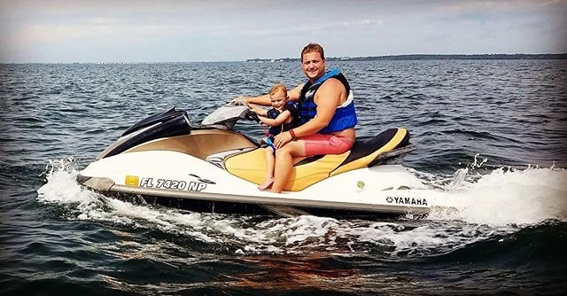 Jet skiing with my little man!  He had a great time!