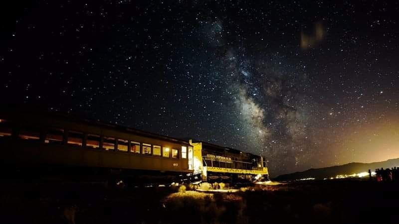 Our first Star Train is this Friday at 7:30pm. As of 9:15am today we are only 20 seats away from selling out!!! Our star train includes a train ride across the Steptoe Valley, while Great Basin National Park ranger tell you about what you see in the night sky. Once we reach a certain location we will let you off the train where the rangers will have their high powered telescopes set up for your view pleasure.  Book your Star Train Vacation now at nnry.com  #nightphotography #railroad #star #stargazing #starphotography #milkyway #nightphoto #train_nerds #awesome_shots #travelphotography  #travelgramnation