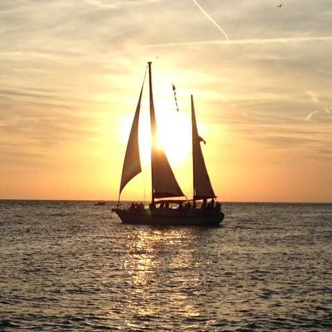 Sunsets from our boats are always beautiful! #nofilter #sailboats #sunsets #StPeteBeachFL #datenight #gulfofmexico