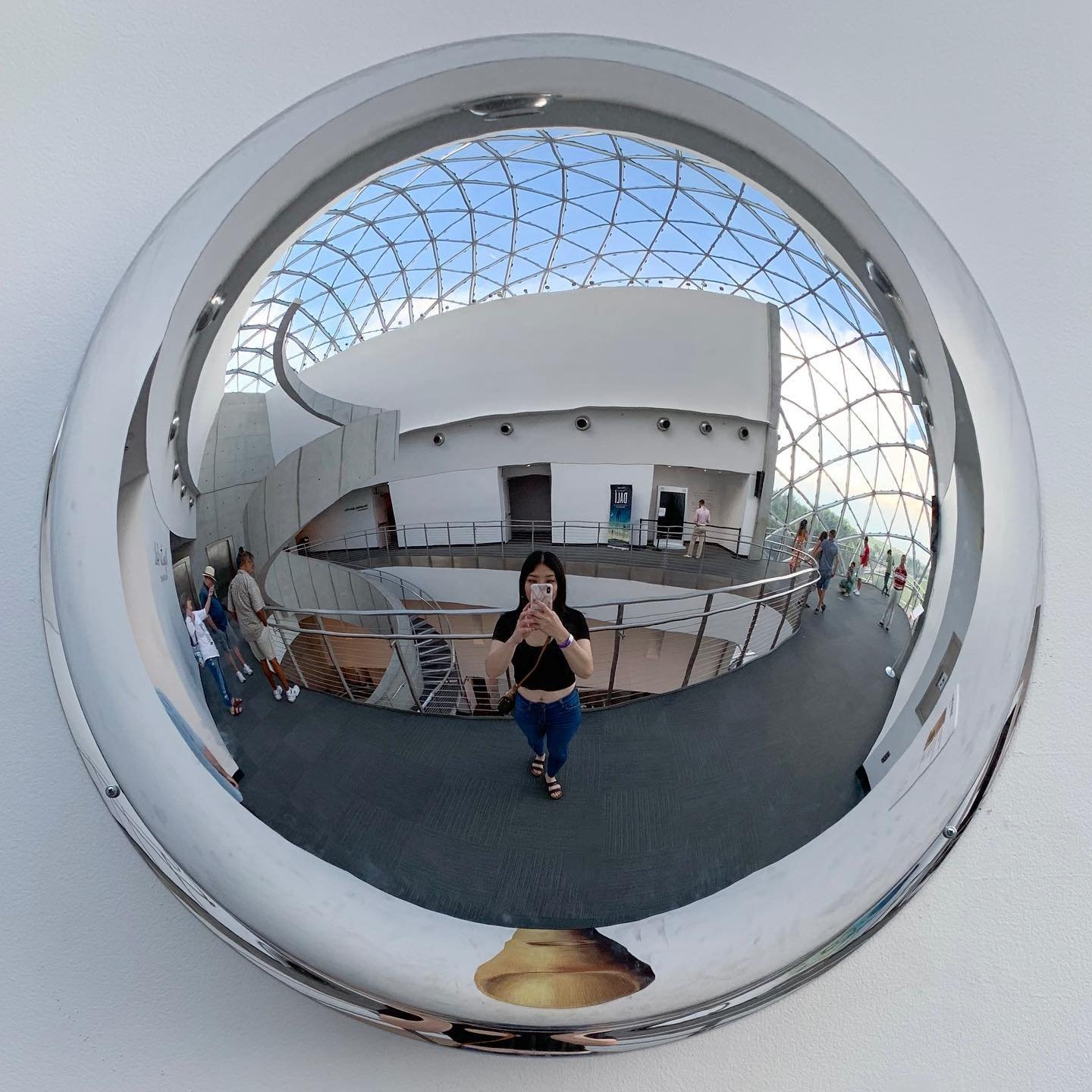 In a bubble 👁 . . The Dali museum is definitely a place to check out. It's one of the best museums that I've been to . . . #dalimuseum #stpete #stpetefl #saintpetersburgflorida #igersstpete #lovefl #liveamplified #ilovetheburg #sunshineshere #tampa #florida #museums #bloggersunder500 #smallblogger #bloggertribe #discoverunder2k #bloggersunder1k #floridablogger #girlsinmuseums #museumselfie #artmuseums #selfieofday #artsviral #instaartsy #instaartexplorer #instaartlovers #wanderlove #wanderers #exploreflorida #explorestpete