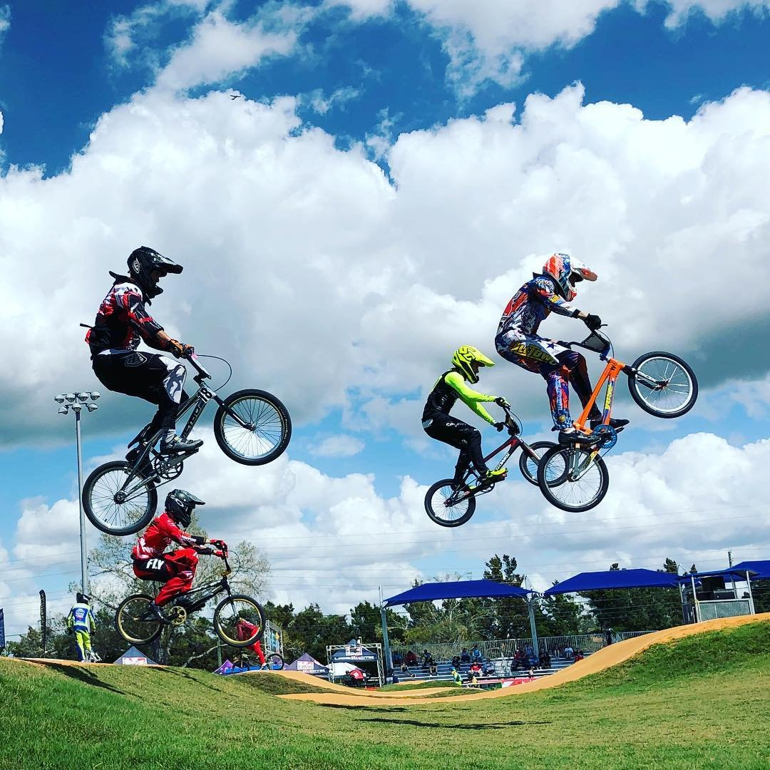 Flying high! 🙌🚲💙 #liveamplified #visitstpeteclearwater @vspc #oldsmarbmx @usabmx