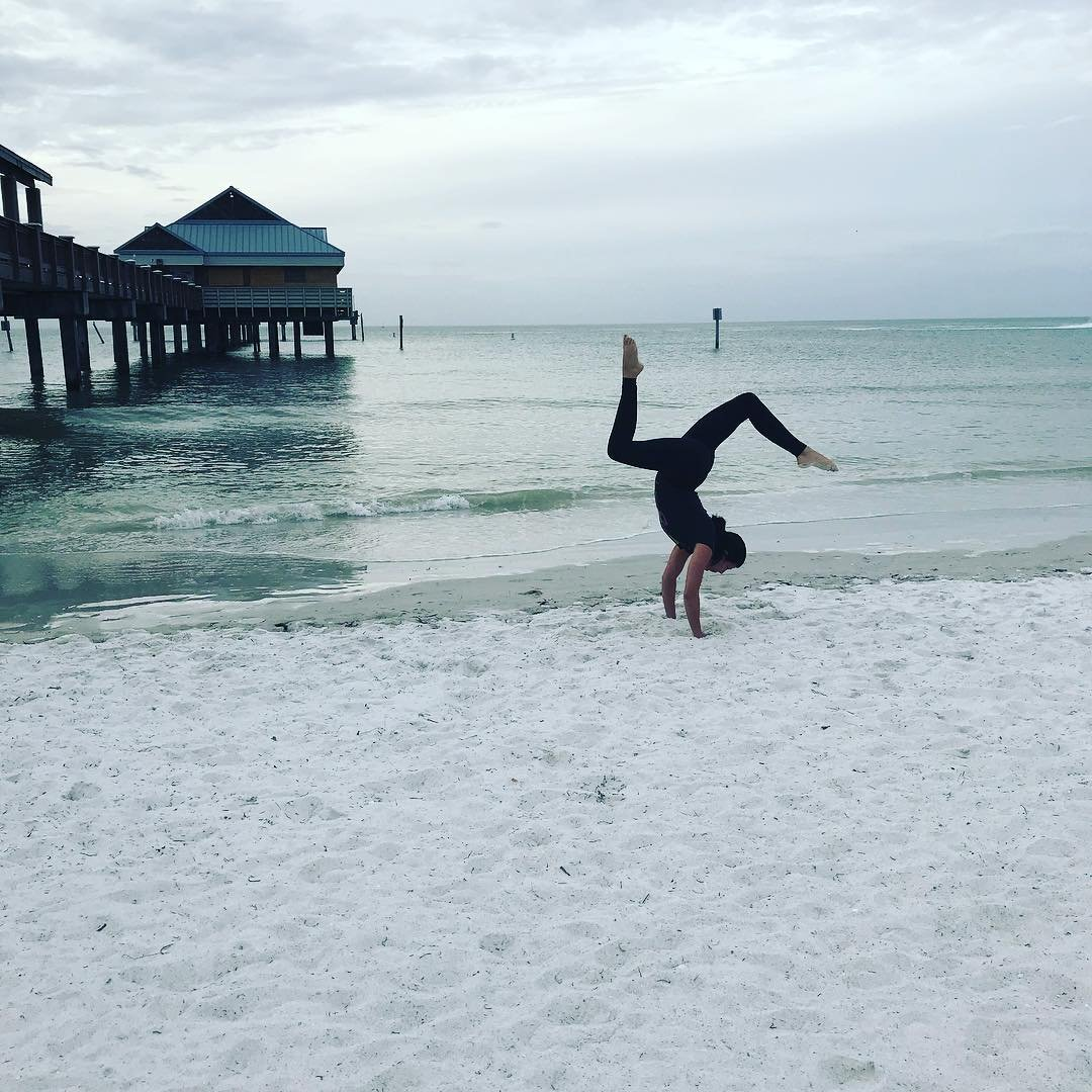 The ocean has a way to push my reset button... #lettinggo #clearwaterbeach #clearwater #Florida #yoga #practice#