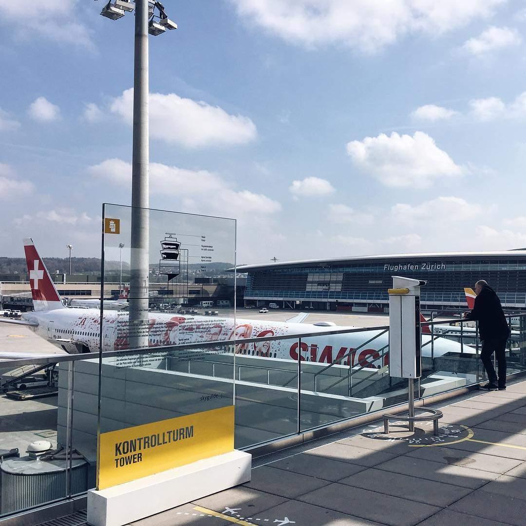 Zuschauerterasse Flughafen Zürich
