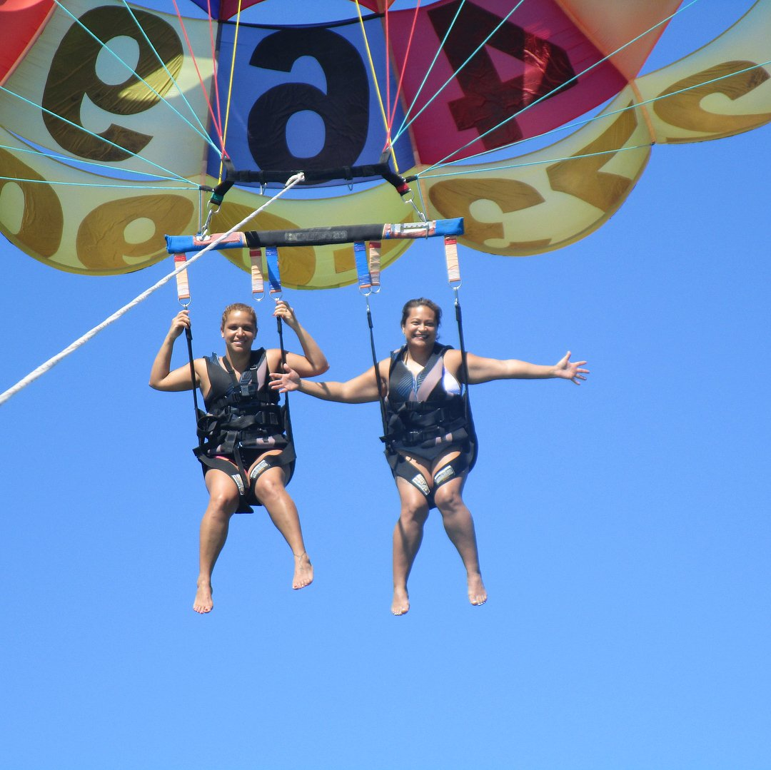 Parasailing with my Bestie today!!
