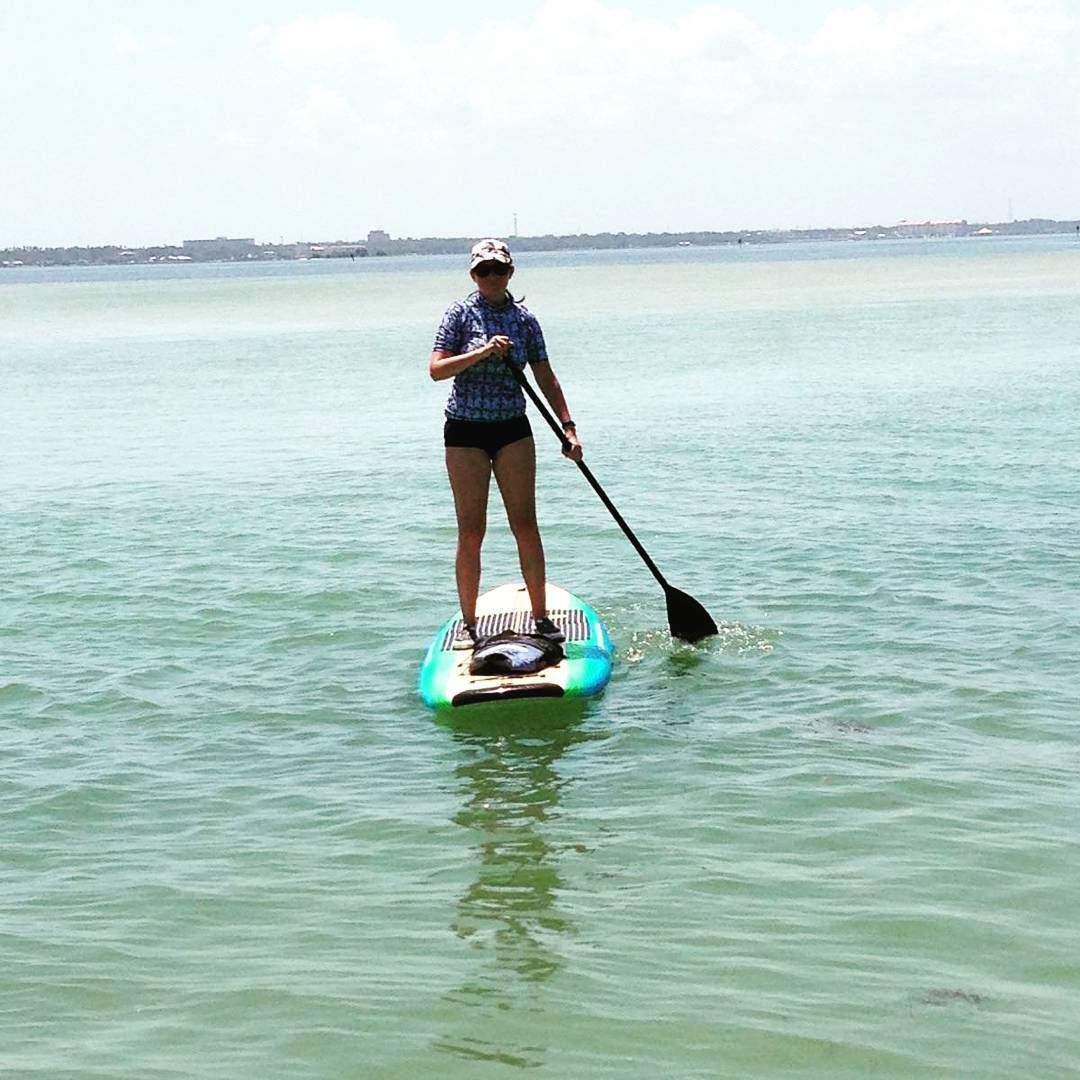 Paddle boarding this Wed morning! Followed by training in the afternoon. I had that room smelling like summer with my sunscreen... Just trying to squeeze in #adventures before teaching starts back up. #ilivehere #lovewhereyoulive #saltlife #outdoors #gtl
