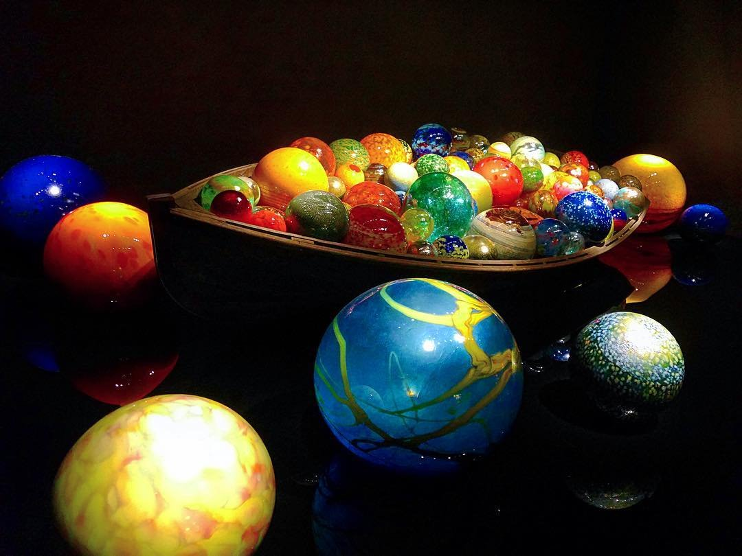 World made of glass #art #chihulyglass #craftmanship #stpetersburgflorida #chihulycollection #glassballs