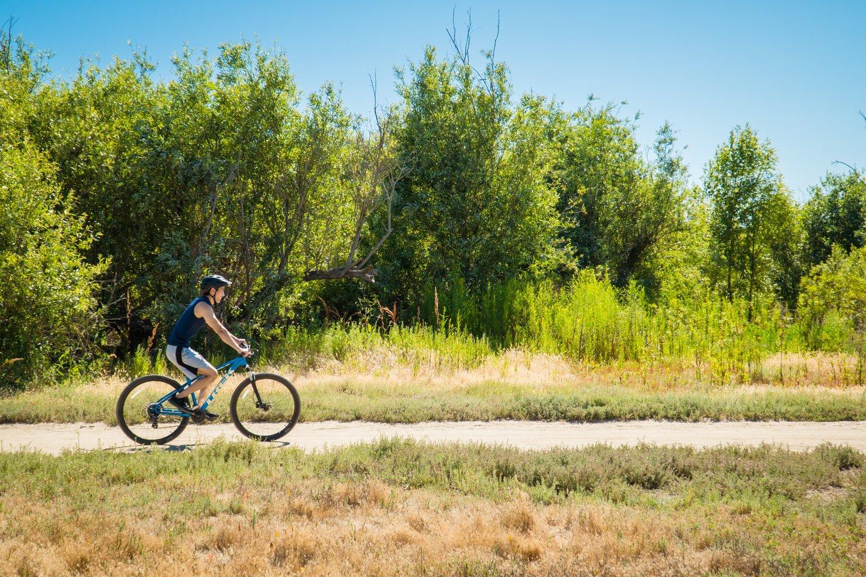 man on bike at Talbert Regional Park