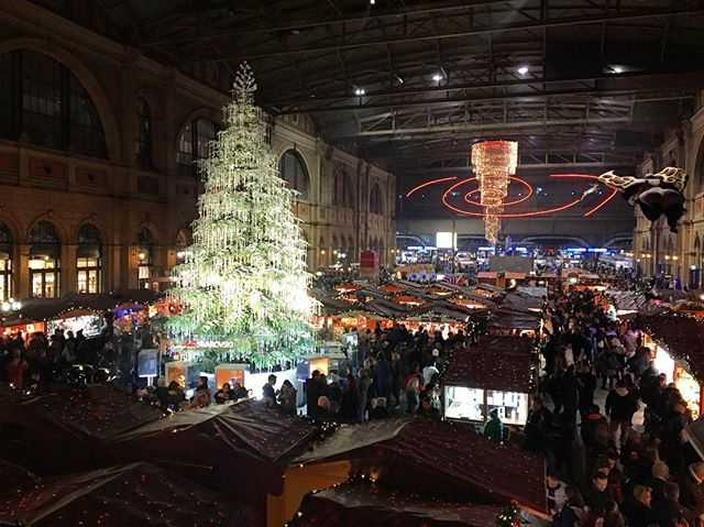 Real Weihnachtsbaum.Christkindlimarkt Shopping In Zurich