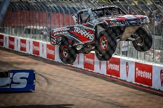 Traxxas truck jumping at the St. Petersburg Grand Prix. . . . . . #race #racetrack #f1 #racing #driver #streetrace #grandprix #racecar #car #indy #truck #chevrolet #chevy #stpetersburg #dtsp #ford #dodge #liveamplified #florida #tampa #stpete #traxxas @traxxasracing @traxxas #jumping #jump #firestone #pickup #rc