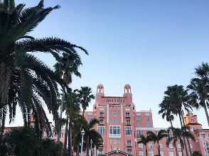 Comme un air du Grand Budapest Hôtel 🏤🎀#architecture #palmtrees  #princesshouse #pink #Florida #wesanderson