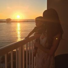 Chasing the sunset with my baby💛