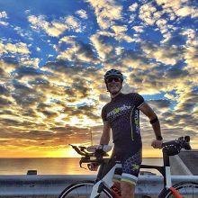 Sunset ride with my gal last night #lifeisgood #triathlontraining #theburg #liveamplified #fromwhereiride #florida 📷@valeriedleggett
