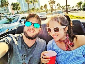 It's always better when we're together... Thanks for this amazing adventure! #love #myboy #beach #beer #florida #eua #trip