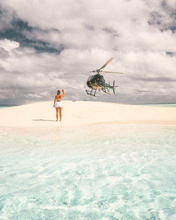 Reef by helicopter