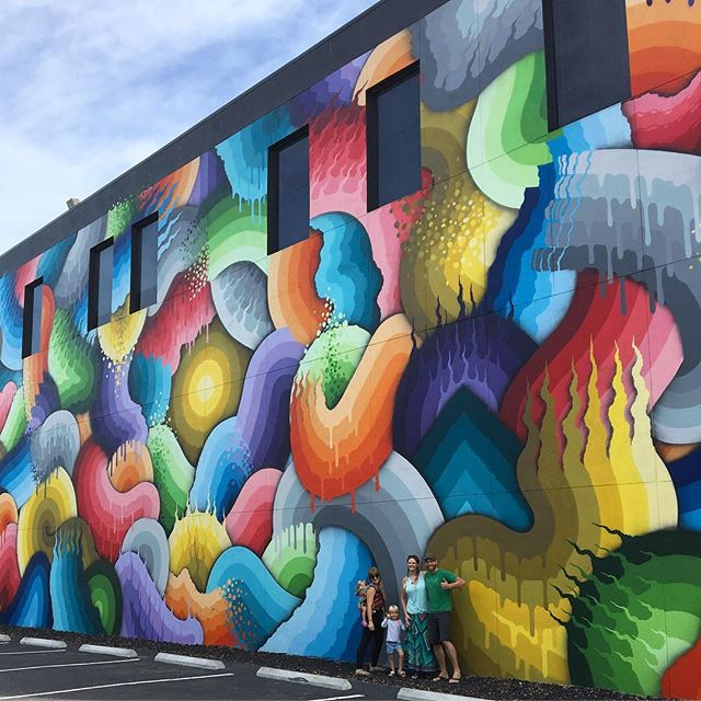 I have so many rad shots from this day strolling in St. Pete with friends back in November. This one is by @rickywatts The colors and size are amazing!! • • • #streetart #dtsp #rickywatts #dopeart #streetmural #allthecolors #freeart #unschooling #artislife #igersstpete #stpetersburgflorida #artiseverywhere #art #stpetian #liveamplified