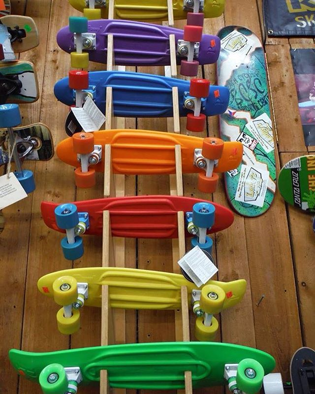 Check out these awesome Penny skateboards we have in stock! We are a fully outfitted skate shop; sales & service. #stpetebeach #skateshop #skateboards #skatefate #animalchin #stpetersburgfl @pennyskateboards #pennyskateboards