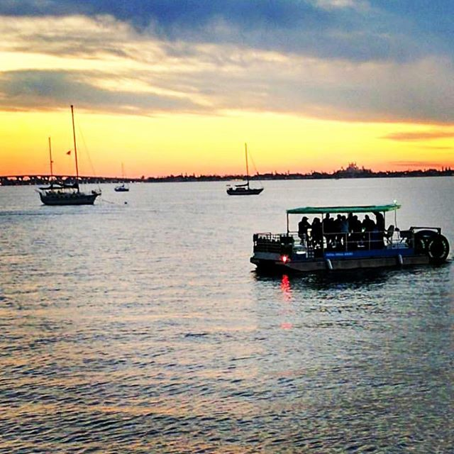 Thanks @vmdoug for the great #sunset shot of our @krakencycleboats! #stpete #stpetebeach #stpetersburg #liveamplified @omaddys_gulfport