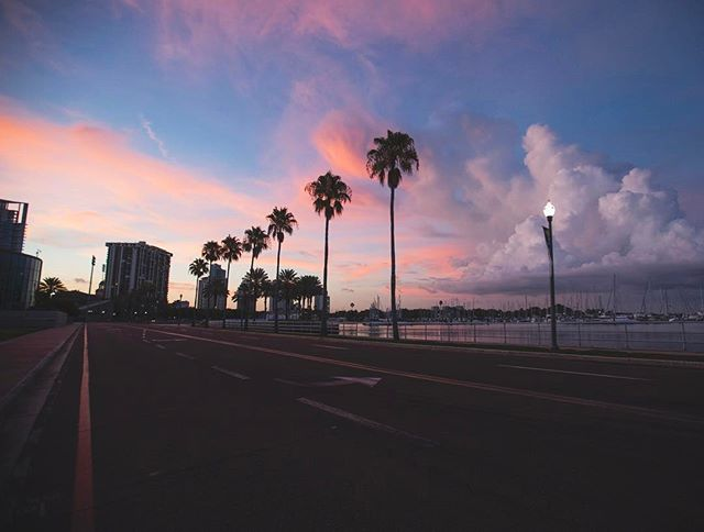 Wanderlusting on this Wednesday over these cotton candy skies. . . #SunShinesHere #loveyourneighborhood #lovefl #igersstpete #stpete #lovestpete #ilovetheburg #liveamplified #paradise