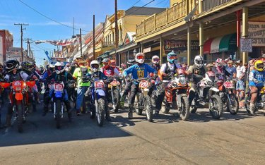 Another heat of dirt bikes, big bikes and hooligans lined up to launch at this last weekend's Virginia City Grand Prix. 14 ADV class bikes in total raced this weekend in what turned out to be a surprisingly challenging loop of hill climbs, shale, loose rocks and beautiful carnage. Hats off to all the ADV competitors who showed up to throw down and a big thanks to the crowd that cheered on the big boys 🏁👏👏🏁 #vcgp #gratitude #raceday #dualsport #heavyenduroracing #offroad #virginiacity #hooligans #enduro #heavyenduro #nevada