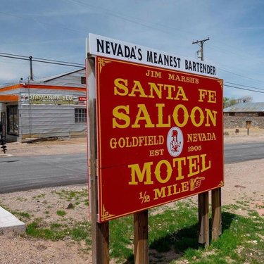 You'll have to decide for yourself whether the sign is accurate. See you at the Santa Fe in Goldfield. (📸: @goldfieldnevada)