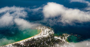 Sand harbor in the clouds.  Watching these clouds quickly form and disappear in less than 5 minutes was pretty cool!! So glad I wasn't in a hurry to get back to the car after this long hike.  #sandharbor #nevadastateparks #tahoenorth #renotahoeusa #outdoorphotomag tahoenorth tahoequarterly renotahoe renoairport nikonusa