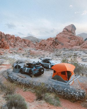 Rad weekend camping out in Valley of Fire exploring NV's oldest state park ⛺️