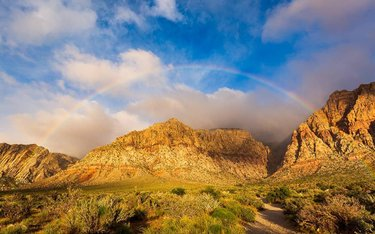 Figured I'd throw out a landscape shot to close out the night. This is from a couple of weeks ago, when the Spring Mountains were greeted with a cold shower, high winds and a rainbow.  Canonusa 5DIII, 16-35 f4L . . . . . . #lasvegas #westbysouthwest #canonusa #canon_photos #mycanonstory #teamcanon #nevada #explorenevada #naturalnevada #travelnevada #dfmi #lasvegasigers #vol5k #aov5k #smugmug #photography #earthgridz #earthofficial #ig_color #mg5k #createexplore #igtones5k #agameof10k #weekly_feature #usaprimeshot #lensbible #explorenature #landscapephotography #rainbow