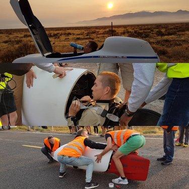 World Human Powered Speed Challenge 2019 - Qualifiying Run #humanpoweredspeedchallenge  #battlemountain #velomobile #whpsc #hpv #whpsc2019 #cycling #engineering #aim93
