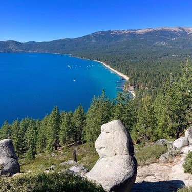 Love this hike! Killer views of Incline Village. And there's a rock shaped like a Monkey at the top! Start in the Northern parking lot of the Tahoe East Shore trial.