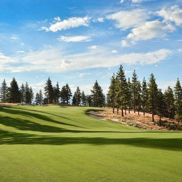 """""""The site fits perfectly with our philosophy of creating golf that feels natural and not contrived."""" -Ben Crenshaw  #cooreandcrenshaw #golfcommunity #laketahoerealestate #golftahoe #golflife #golfclub #golfcoursephotos #beautifulgolfcourses"""