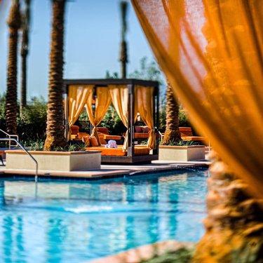The oasis is calling. 🌴  #Cabana #Poolside #Summer #AlianteCasino